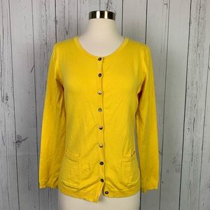 Boden | yellow cardigan sweater | size 6